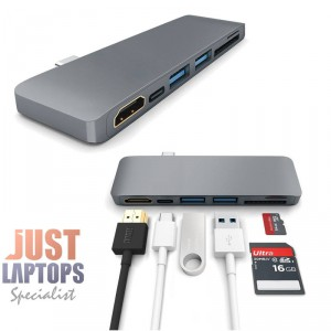 ROCK 6 in 1 Type C Hub With HDMI Port Space Grey