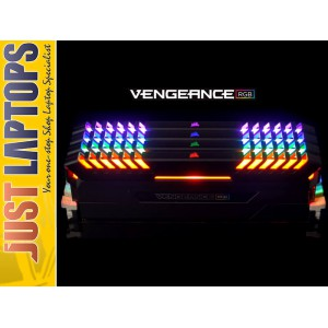 Corsair Vengeance RGB 16GB (2x 8GB) DDR4 2666MHz Memory Black CMR16GX4M2A2666C16