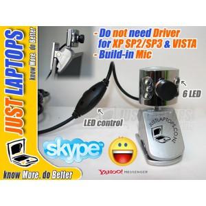 Plug-n-Play 1.3M Webcam w LED light n built-in mic