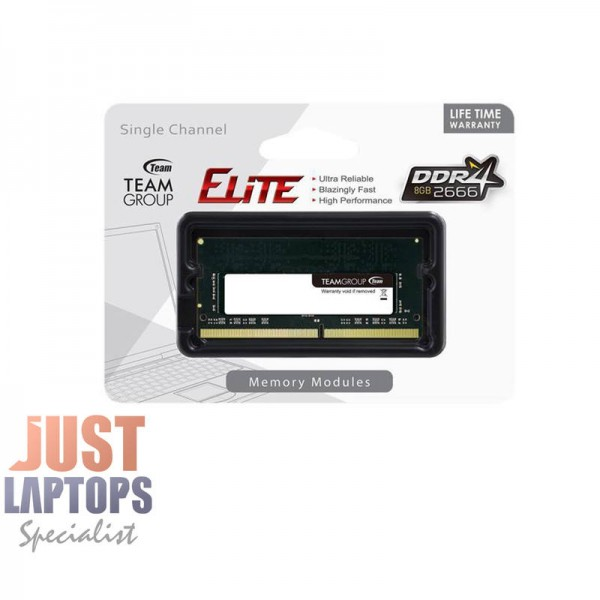 LAPTOP RAM DDR4 8GB - TEAM ELITE 8GB 2666 RAMSO-D4 CL19-19-19-43 1 2V SODIMM