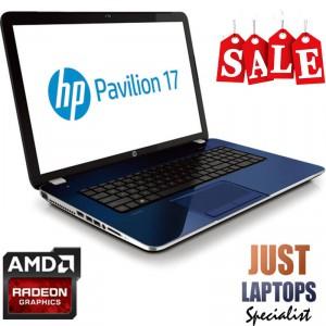 "HP AMD Quad Core 17.3"" Radeon REVOLUTIONARY BLUE Windows 10"