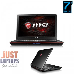 MSI GAMING LAPTOP GP62 Leopard I7-7700HQ 16GB DDR4 275GB SSD+1TB GTX1050 WIN10