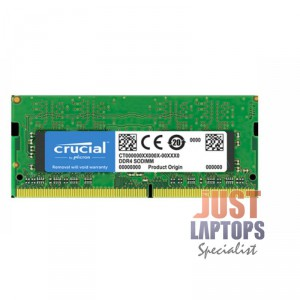 Crucial 16GB DDR4 SODIMM 2400 MT/s (PC4-19200) CL17 DR x8 Unbuffered SODIMM 260p