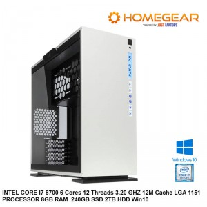 HOME PC INTEL COFFEE LAKE I7 8700 6 CORES 4.0 GHZ 8GB 240GBSSD + 2TB HDD WIN10
