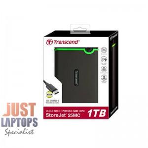 TRANSCEND STOREJET 25MC 2.5 INCH USB 3.1 USB TYPE-C EXTRA-RUGGED 1TB HARD DRIVE