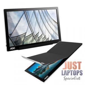 AOC I1601FWUX 15.6 Inch 1920 x 1080 Full HD 5ms USB-C Portable Monitor