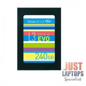 """Team Group L3 Evo Series SSD, 240GB, 2.5"""", SATA 6 Gb/s, Black"""