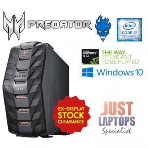 Gaming PC Acer Predator G3-710 Intel i7 Quad Core 16GB GTX 1070 8G 256GB +  2TB